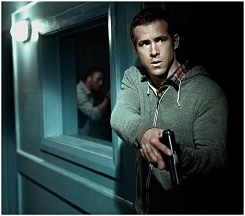 Safe House 2012 8x10 Photo Ryan Reynolds Holding Gun Grey Hoodie Plaid Shirt Kn At Amazon S Entertainment Collectibles Store