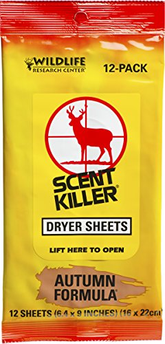 Wildlife Research Center Buck (Wildlife Research 580 Scent Killer Autumn Formula Dryer Sheets, 12 Sheets)