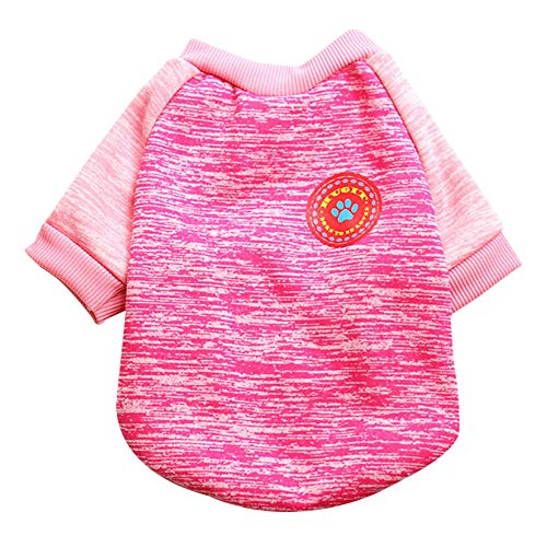 FitfulVan Clearance! Pet Dog Puppy Sweater Fleece Warm Sweater Clothes (Hot Pink,L) -