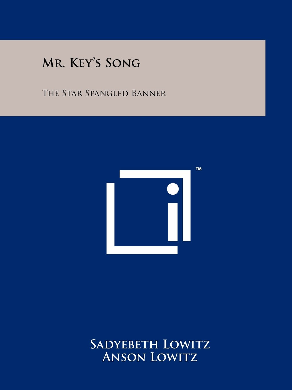 Mr. Key's Song: The Star Spangled Banner pdf