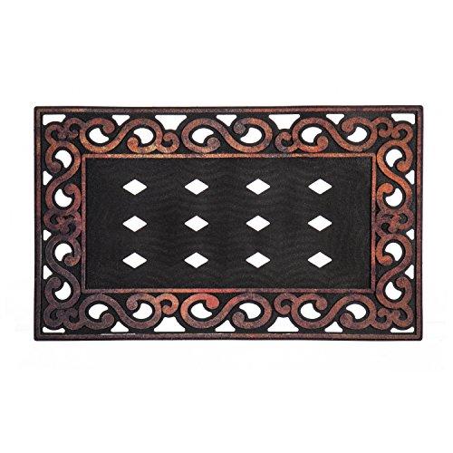 Evergreen Variegated Scroll Sassafrass Decorative Floor Mat Insert Frame, 30 x 18 inches by Evergreen Flag