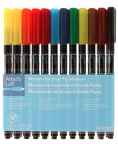 Artist's Loft Watercolor Dual Tip Markers 24 Pc