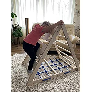 ACG Triangle Pikler For Kids Toddlers Kids Climbing Toy For Movement Development Rock Wall Toy Balance Blocks Learning…