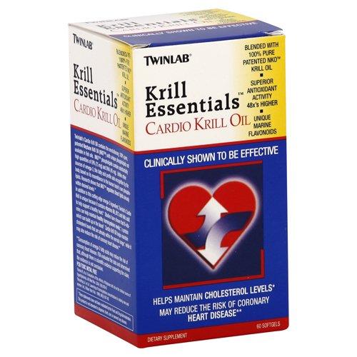 Twinlab Krill Essentials Cardio Huile de Krill, 625mg 60 gélules