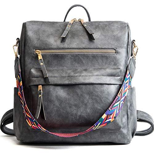 Zaini Pu Casual Zaino A In Spalla Da Gray color Borse Daypack Black Pelle Donna Jsfnngdv Borsa I4Yq1wq
