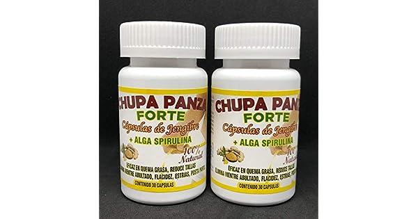 Amazon.com: Chupa Panza 60 Jengibre+Alga Espirulina Quema ...