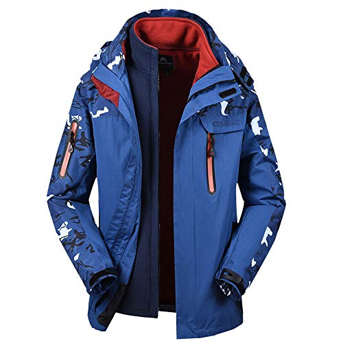 Men's Winter Two Piece Set Camouflage Waterproof Windproof Outdoor Sport Coat