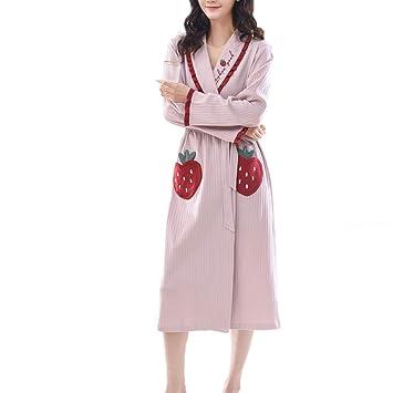 Forall-Ms NiñAs Bata De AlgodóN, Bata De Casa, Bata Suave Y Linda para Mujeres Largo Kimonos CamisóN De Lujo Pijama para Mujer Regalos Personalizados ...