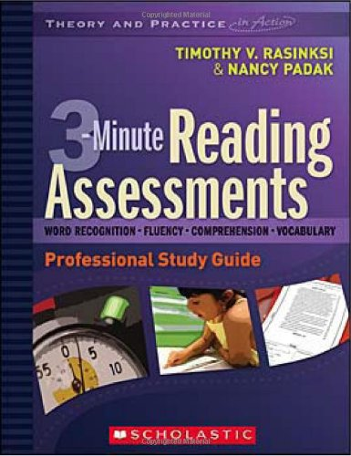 Download 3-Minute Reading Assessments: A Professional Development DVD and Study Guide (Theory and Practice in Action) pdf epub