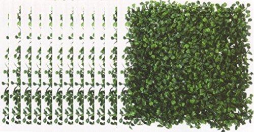 Negro Decoración del hogar al aire última intervensión alfombra Floral UV boj Artificial Césped cortasetos planta valla...