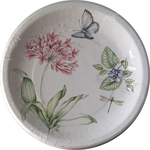Lenox Butterfly Meadow Pink 16 Coated Dinner Paper Plates