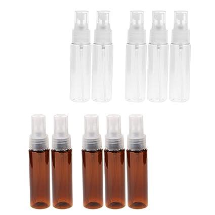 IPOTCH 10pcs Botella de Plástico 30ml Tubo de Aerosol Estuche de Maquillaje Tarros de Líquidos