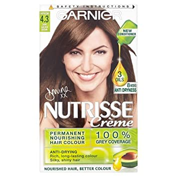 Garnier Nutrisse Permanent Nourishing Hair Colour Dark Gold Brown ...