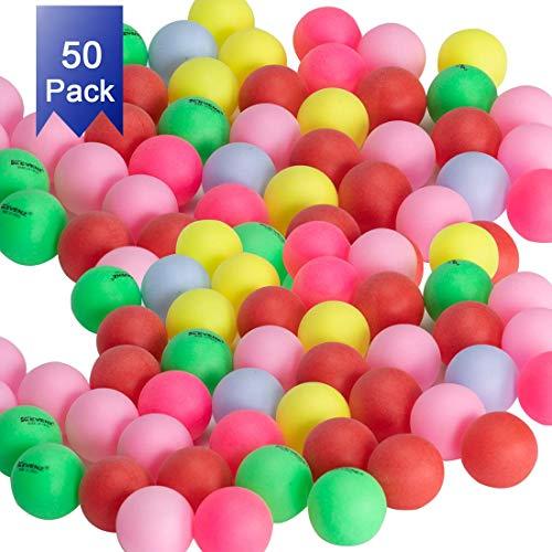 KEVENZ 50-Pack 3-Star 40mm Orange Table Tennis Balls,Advanced Ping Pong Ball (Beer -