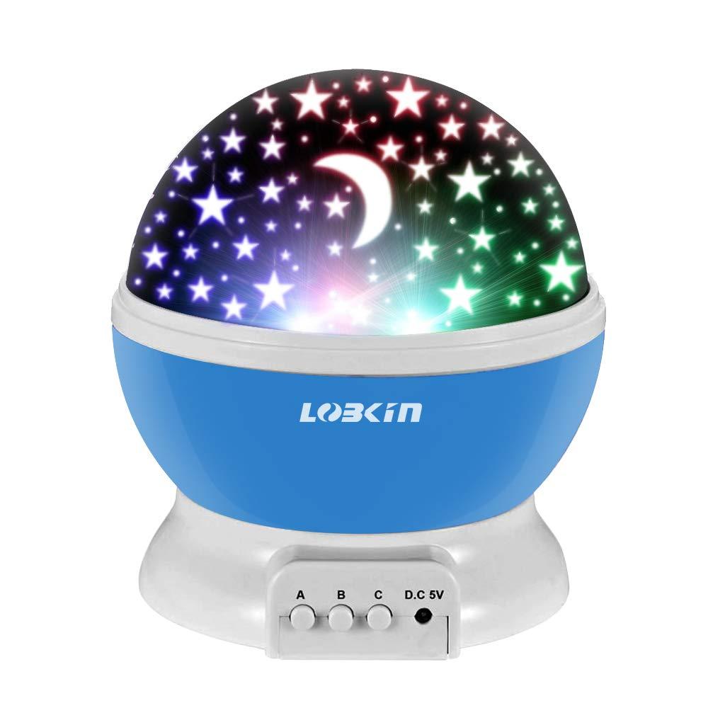 360 proiettore di luce gradi di rotazione 3 modalità Star Romantico Cosmos Stella lampada da letto della luce di notte per bambini, adulti, regali di Natale, amanti con USB / batteria alimentato