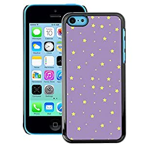 A-type Arte & diseño plástico duro Fundas Cover Cubre Hard Case Cover para iPhone 5C (Stars Purple Yellow Night Sky Wallpaper)