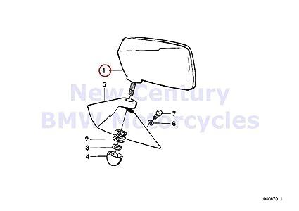 Amazon com: BMW Genuine Motorcycle Mirror Left Convex Mirror Head