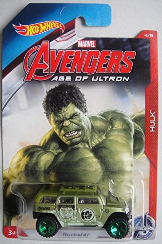 HOT WHEELS MARVEL AVENGERS AGE OF ULTRON HULK ROCKSTER 4/8 by METAL