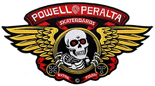 Powell Peralta Large Winged Ripper Skateboard Patch Iron/Sew On 30.5cm wide appx