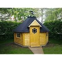 Junit Grillhütte braun Holz XXL BBQ Hut