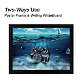 """T-Sign 8.5 x 11 inches Aluminum Snap Poster Frame Inclueds White Dry Earse Surface, 1"""" Profile Wall Mounted Black - Two Use Methods, for More Display"""