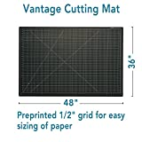"Dahle Vantage 10674 Self-Healing Cutting Mat, 36""x48"",  1/2"" Grid, 5 Layers for Max Healing, Perfect for Cropping, Sewing, & Crafts, Black"