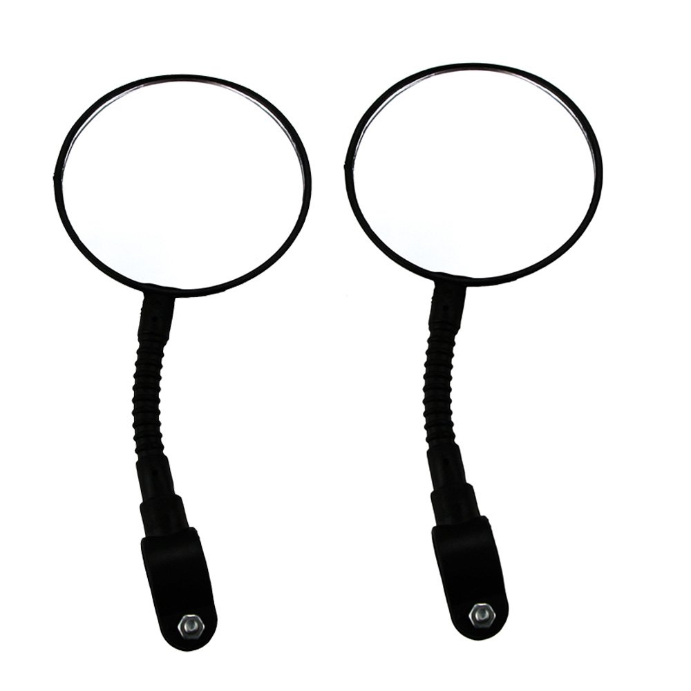 MyLifeUNIT Bicycle Rearview Mirror, Bike Mirrors for Handlebars, Safety Mountain Road Bike Rearview Mirror, Set of 2
