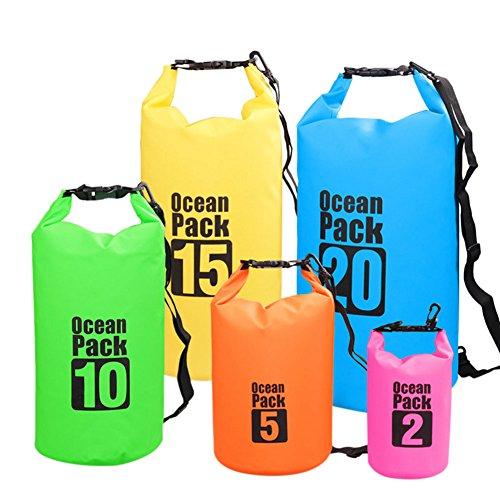 Haodasi Waterproof Dry Bag Strap Schwimmen Bootfahren Water Sports Storage Outdoor Aktivitäten Wassersports Wasserdichte Taschen Trockenbeutel wasserfeste Hülle schwarz 10L sc1BYv