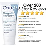 CeraVe Therapeutic Hand Cream for Dry Cracked Hands | 3 Ounce | With Hyaluronic Acid and Niacinamide | Packaging May Vary