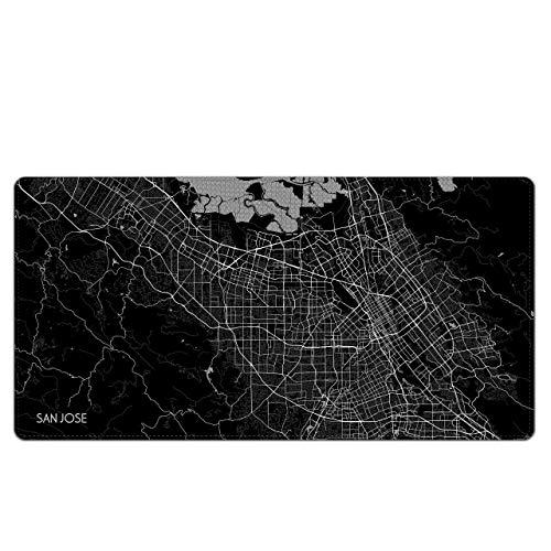 City Map Mouse Pad Large/XL Laptop Mat 80x40CM (San Jose) ()