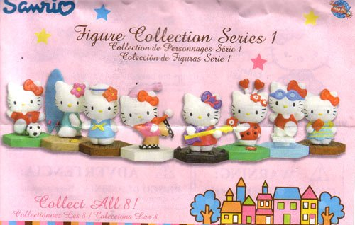 Hello kitty Figure Buildable series 1 Capsule toys set of 8