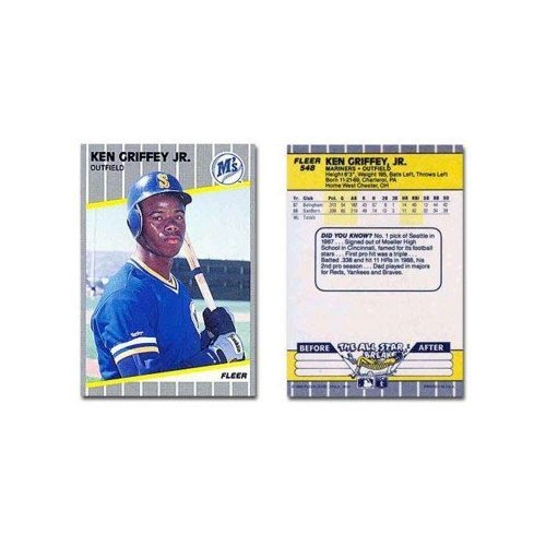 - Ken Griffey Jr. Rookie Card 1989 Fleer Baseball Card #548 Mariners - Mint Condition