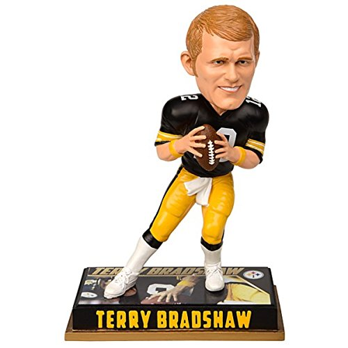 Forever Collectibles NFL Pittsburgh Steelers Mens Pittsburgh Steelers Bobblehead - 8 - Retired Player - Terry Bradshaw #12 - Special Order, Team Colors One Size