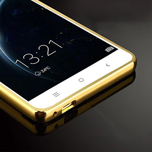 Xiaomi Mi Note 3 Caso, Vandot de 360 Grados Alrededor de Todo el Cuerpo Completo de Protección Ultra Thin Slim Fit Cubierta de la Caja de Mate PC Absorción de impactos Shockproof para Xiaomi Mi Note 3 Mirror Oro