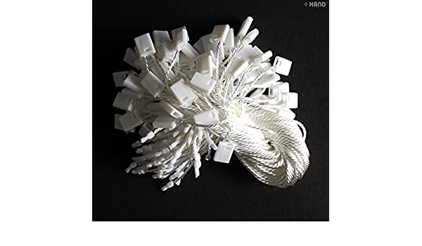 1000pcs Nylon String Snap Lock Premium Qulity White Easy and Fast to Attach Hang Tag