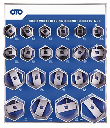OTC 9850 6-Point Wheel Bearing Locknut Socket with Tool Board