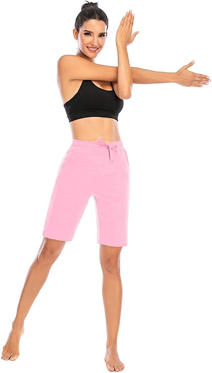 Tinalo Womens Cotton Workout Shorts Yoga Running Sport Short Pants