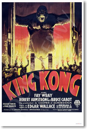 - King Kong 1933 - French Movie Poster - NEW Vintage Reprint Poster