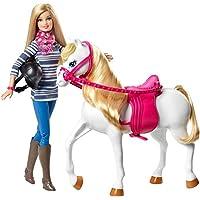 Muñeca barbie y caballo
