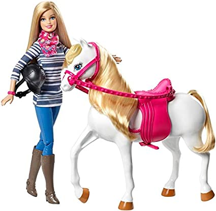 Barbie Doll and Horse Riding Outfit Saddle Boots Helmet Reins Kids Toy Brand New
