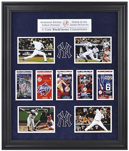 Pettitte World Series (Derek Jeter, Mariano Rivera, Jorge Posada, and Andy Pettitte New York Yankees World Series Framed Collectible with Five World Series Replica Tickets - Fanatics Authentic Certified)