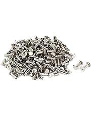 uxcell uxcellPurse Belts Photo Albums M5 x 15mm Metal Binding Chicago Screws Bolts 100 Pcs