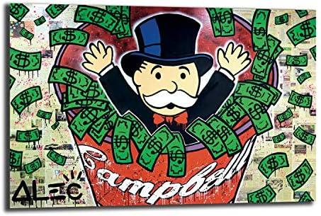 FireDeer Alec Monopoly Code Money Dollar POP Street Art Graffiti Lienzo impreso cuadro para decoración de la pared de la sala de estar: Amazon.es: Amazon.es