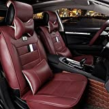 YAOHAOHAO Before the rear car seat cover universal programmable in Natural Leather