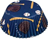 Fox Run Baseball Theme Standard Bake Cups, 50 Cups