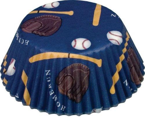 Fox Run 6991 Baseball Bake Cups, Standard, 50 (Fox Run Bake Cups)