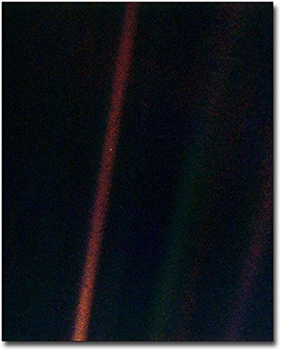 (NASA Voyager 1 Earth Pale Blue Dot 8x10 Silver Halide Photo Print)