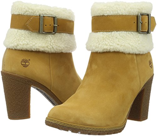 Women''s Fold wheat Ankle Timberland Boots Glancy Down Teddy Brown df7qt