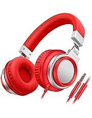 Sound Intone I8 Estereofonía Auriculares Bajos con micrófono ajustables en el oído para iPhone / iPad / iPod / Android Smartphones (Rojo)