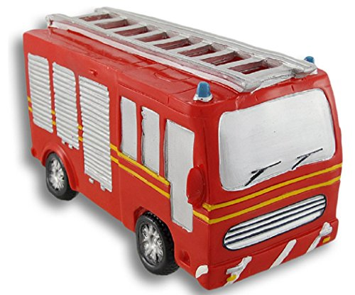 Blowfish Red Fire Truck Coin Bank